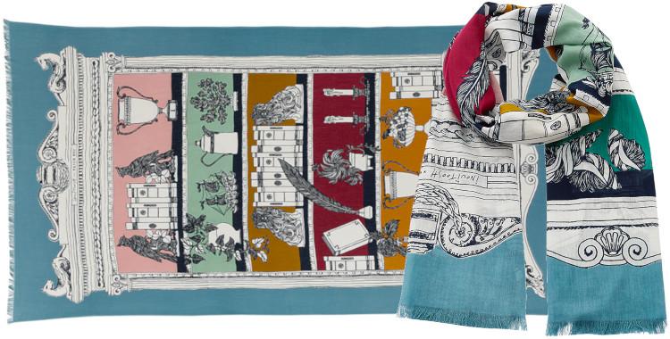 Foulard et paréo, Inouitoosh été 2020, coton, le cabinets de curiosité, bleu turquoise.