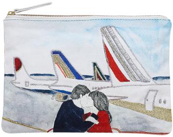 pochettes en coton, Inouitoosh été 2020, brodée, l'aéroport.