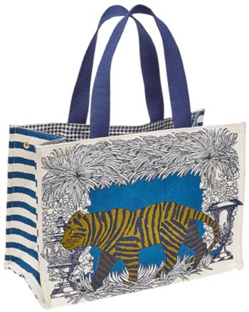 sac en coton Inouitoosh été 2020, le trigre, en bleu et jaune.