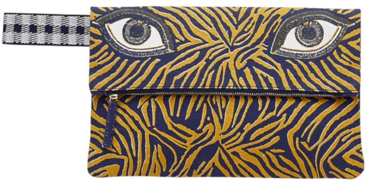 pochette en coton canvas imprimé, inouitoosh été 2020, Mirette, les yeux.