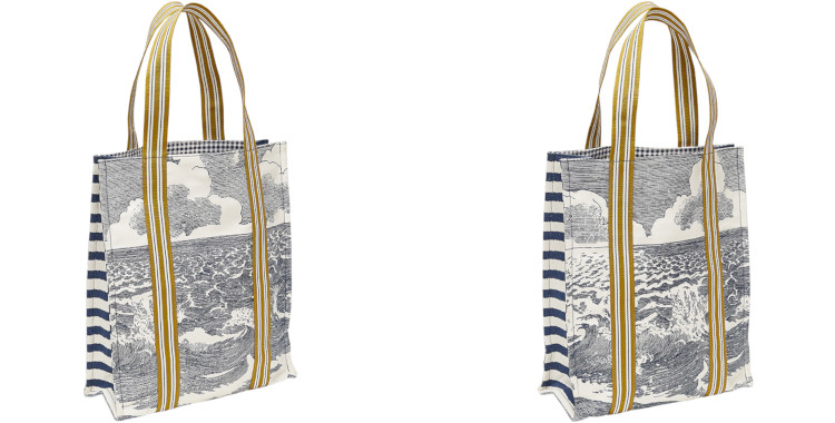 sacs de ville, en coton imprimé, la mer, inouitoosh été 2020.