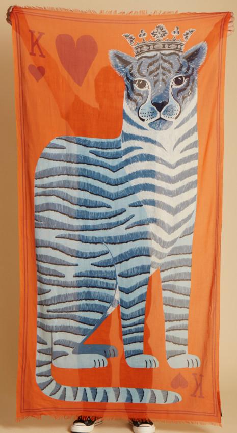 Foulard en coton, Inouiéditons, été 2021.