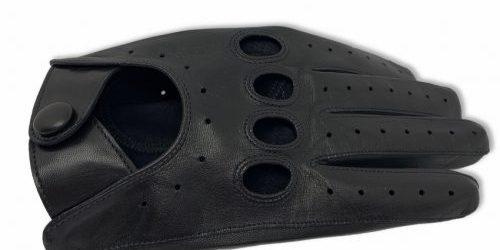 gant de conduite en agneau noir .gant pour pilotes . look vintage